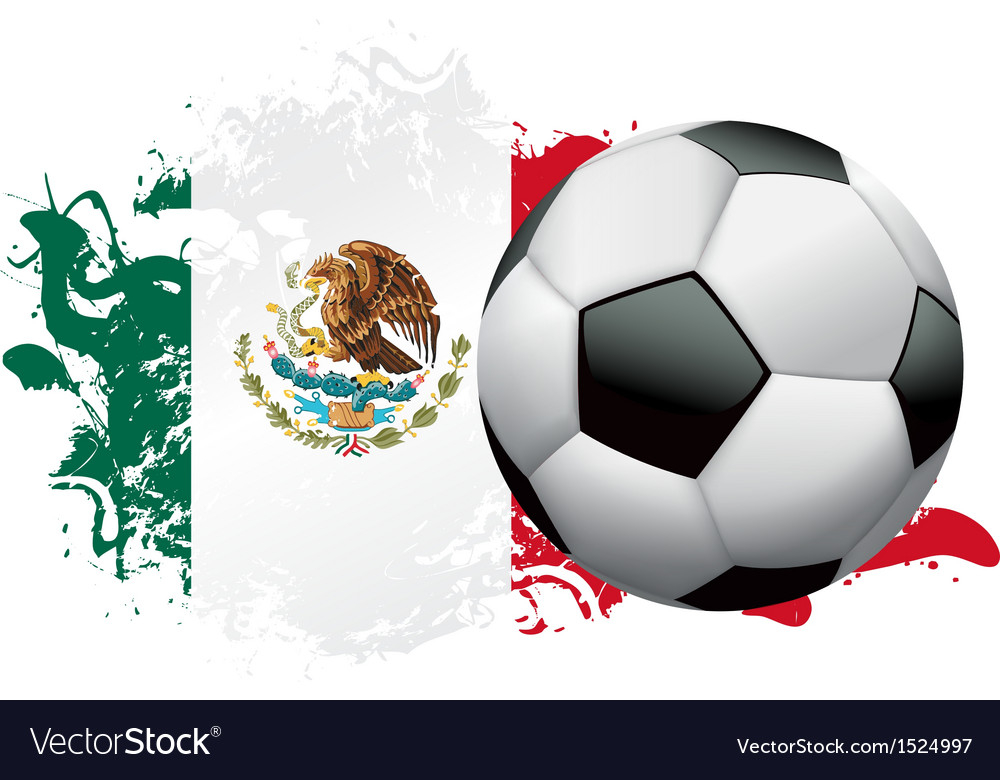 Mexico soccer grunge design vector | Price: 1 Credit (USD $1)