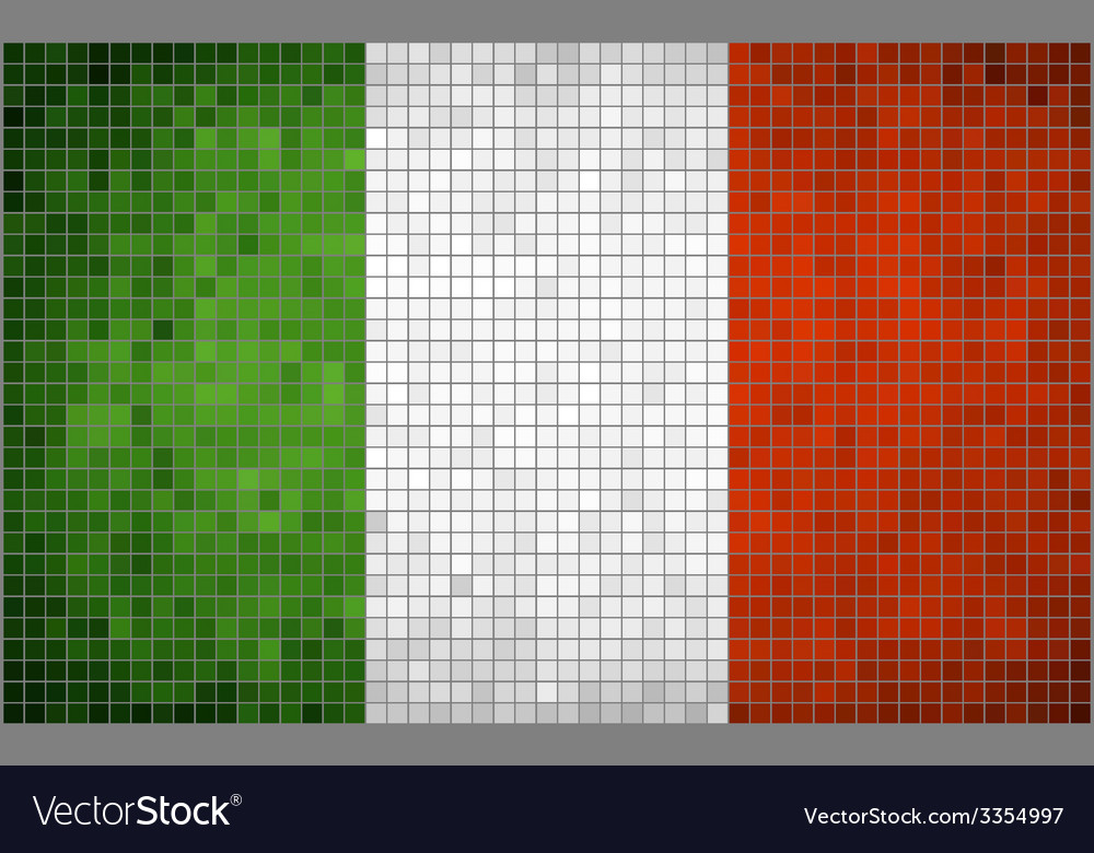 Mosaic flag of italy vector | Price: 1 Credit (USD $1)