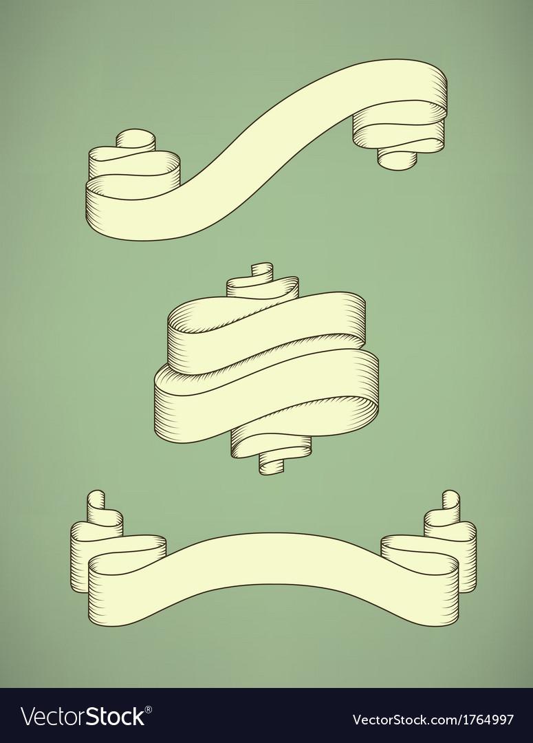 Retro calligraphic ribbon vector | Price: 1 Credit (USD $1)