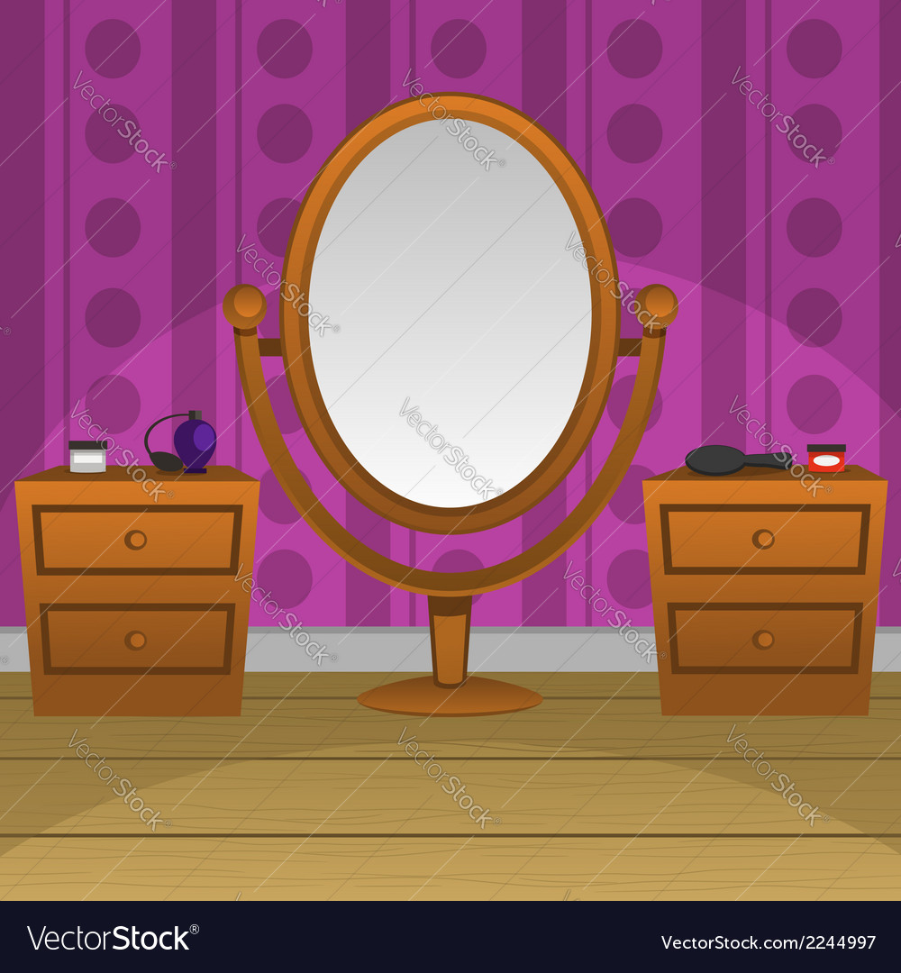 Retro mirror vector | Price: 1 Credit (USD $1)