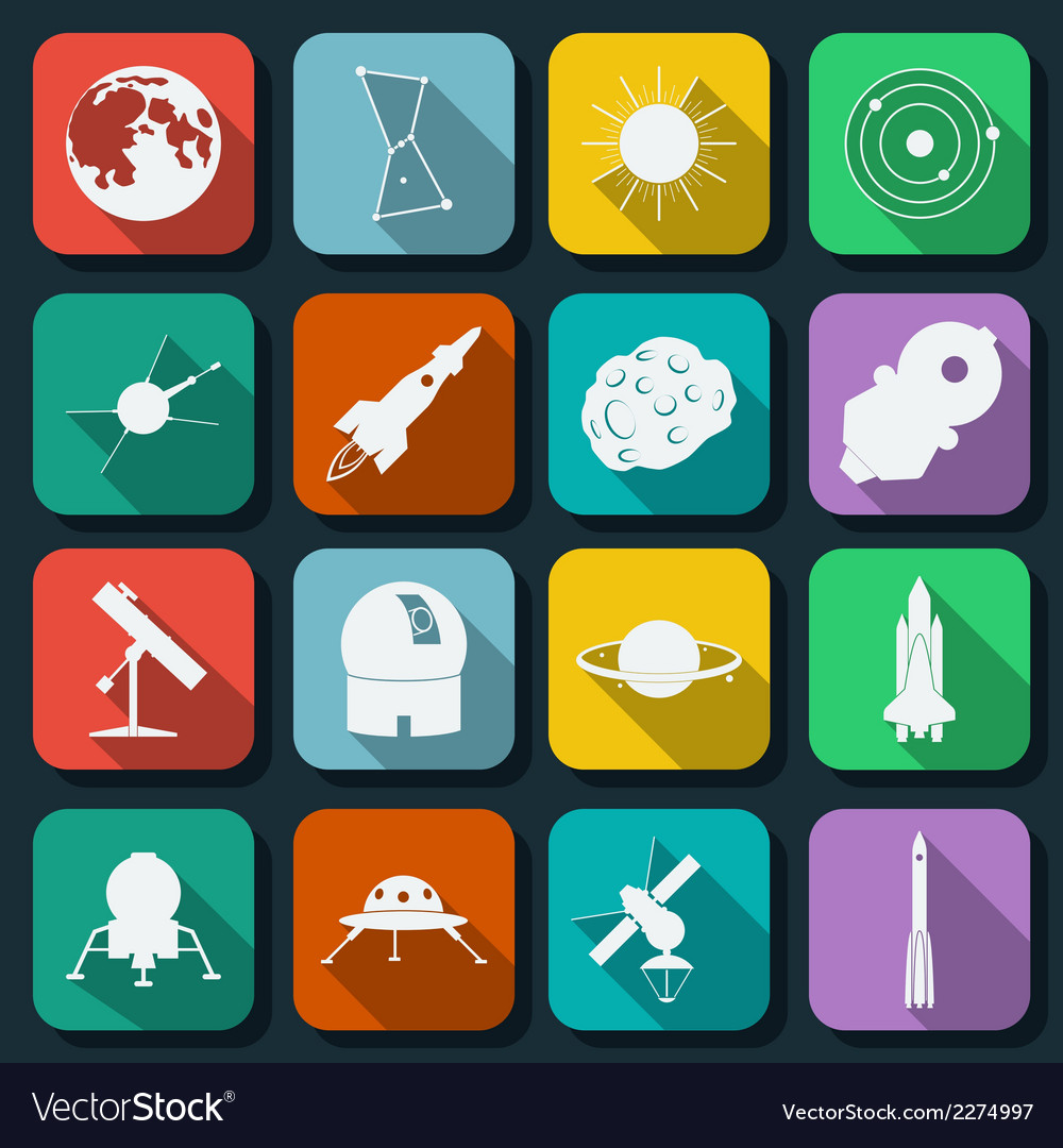 Space and astronomy icons vector | Price: 1 Credit (USD $1)