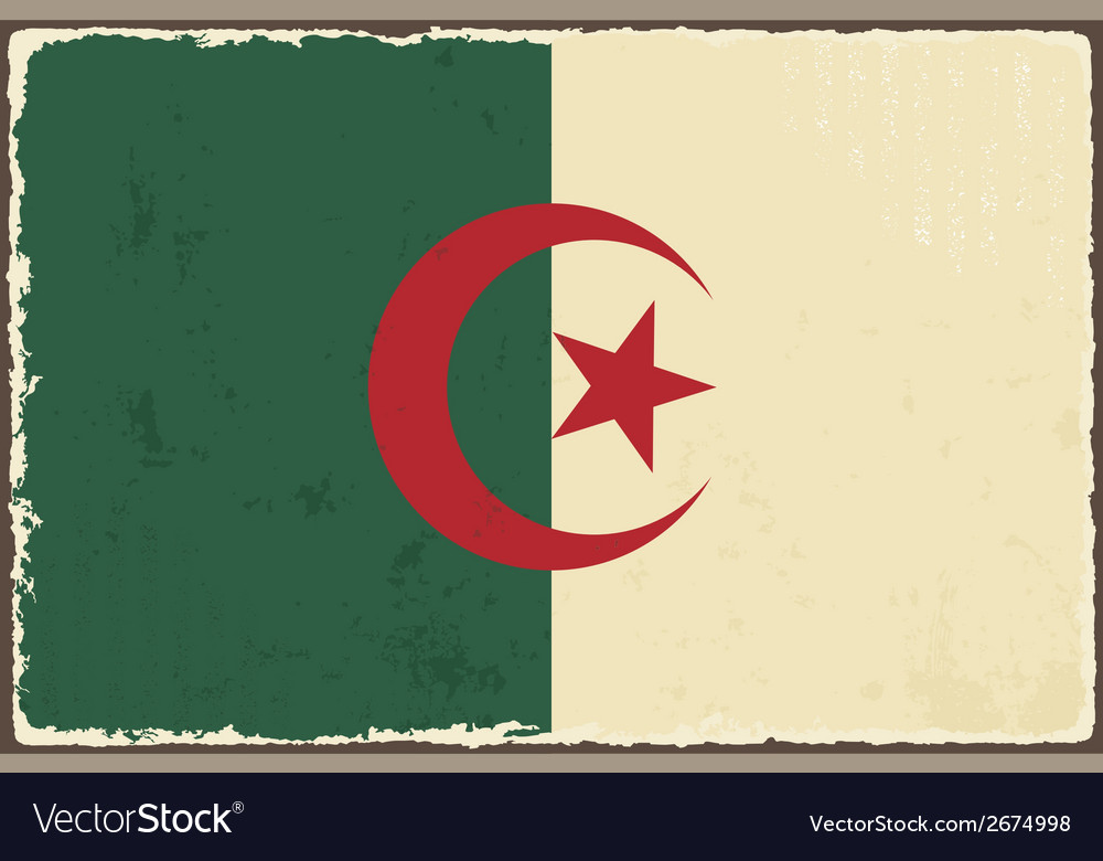 Algerian grunge flag vector | Price: 1 Credit (USD $1)