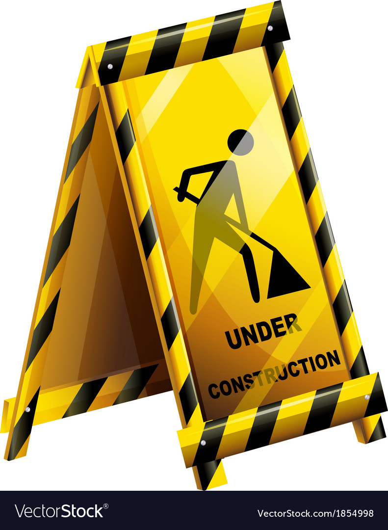 An under construction sign vector | Price: 1 Credit (USD $1)