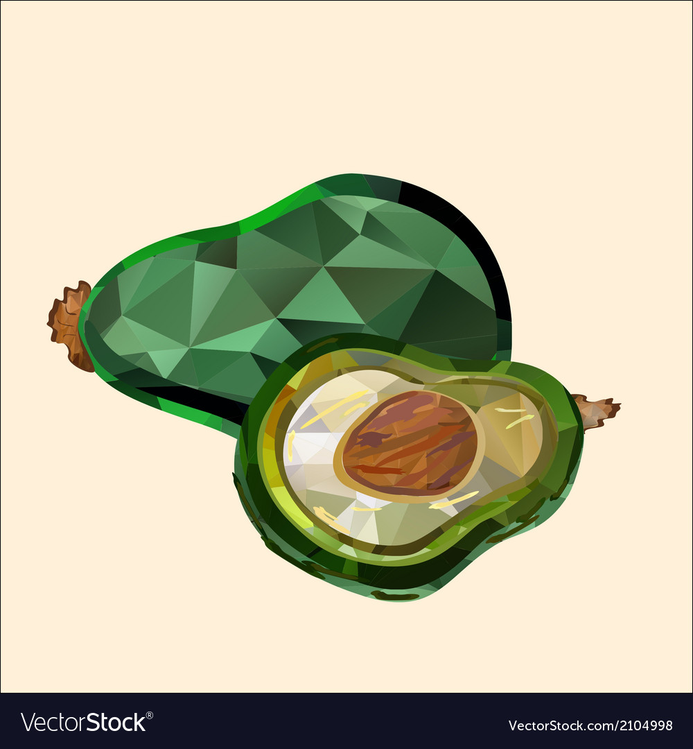 Avocado polygon vector | Price: 1 Credit (USD $1)