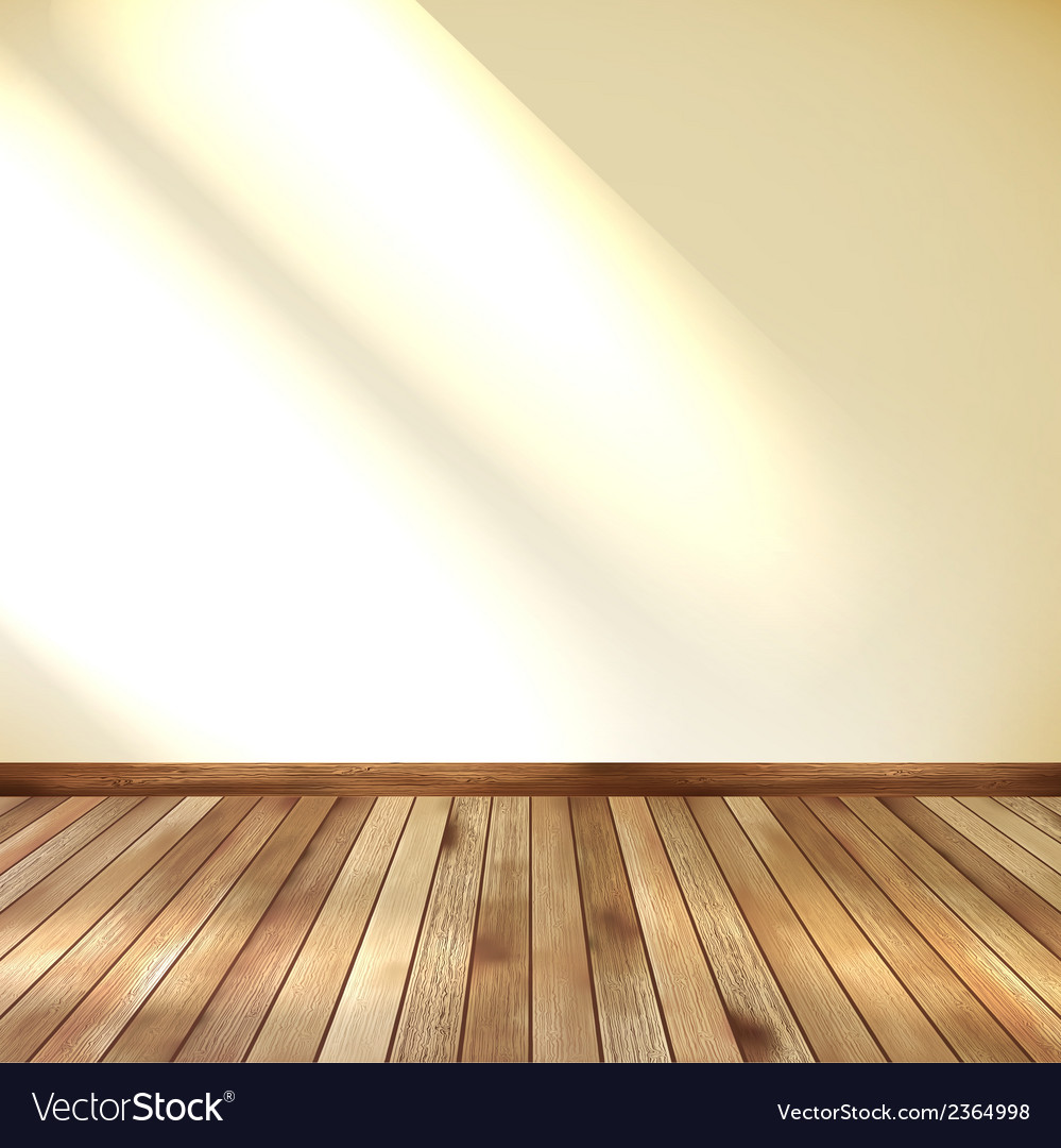 Empty room with wall and wooden floor eps 10 vector | Price: 1 Credit (USD $1)