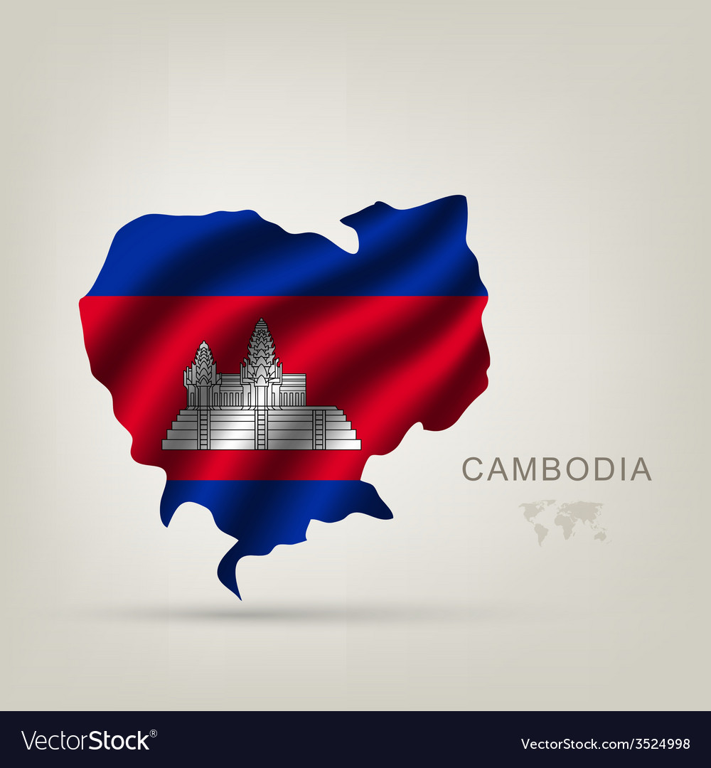 Flag of cambodia as a country vector | Price: 1 Credit (USD $1)
