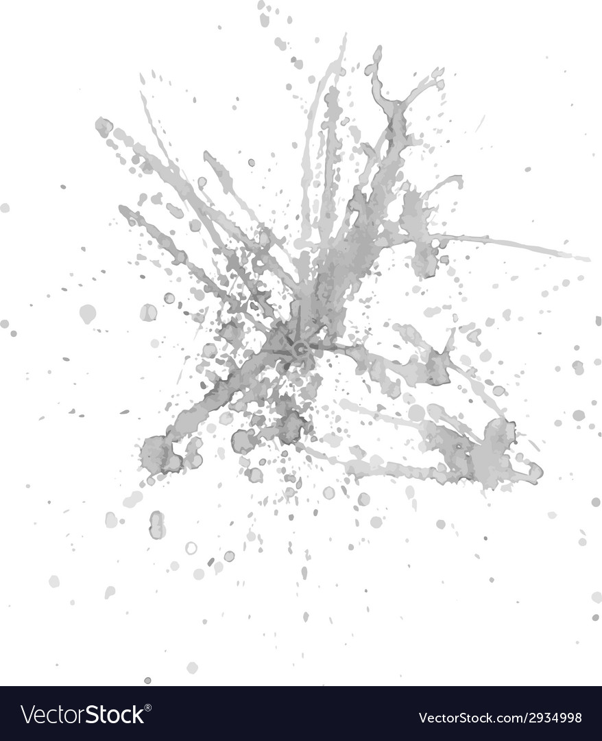 Gray ink splash vector | Price: 1 Credit (USD $1)