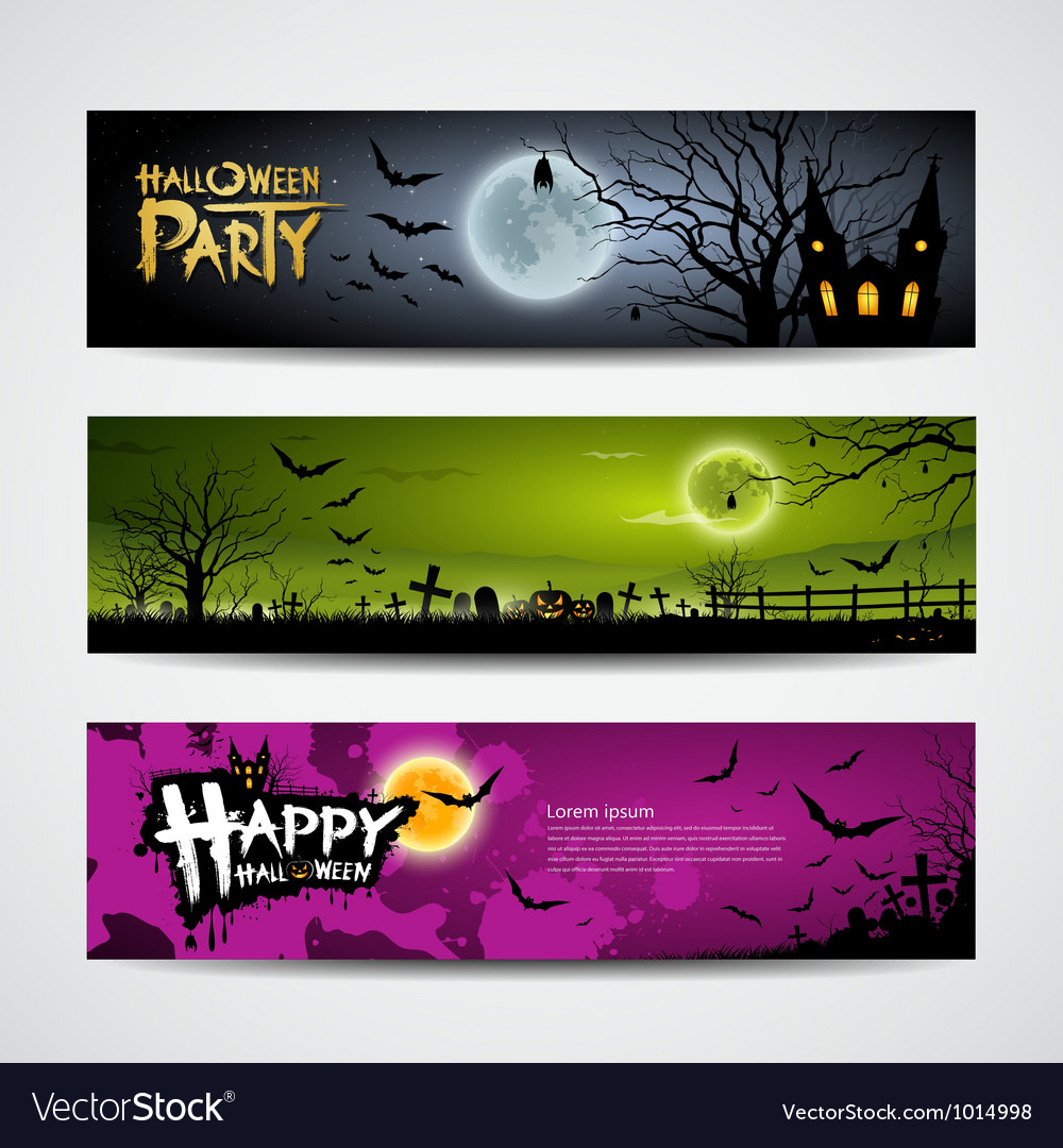 Halloween day banner vector | Price: 3 Credit (USD $3)