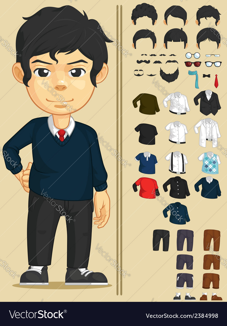 Handsome man customizable character vector | Price: 1 Credit (USD $1)