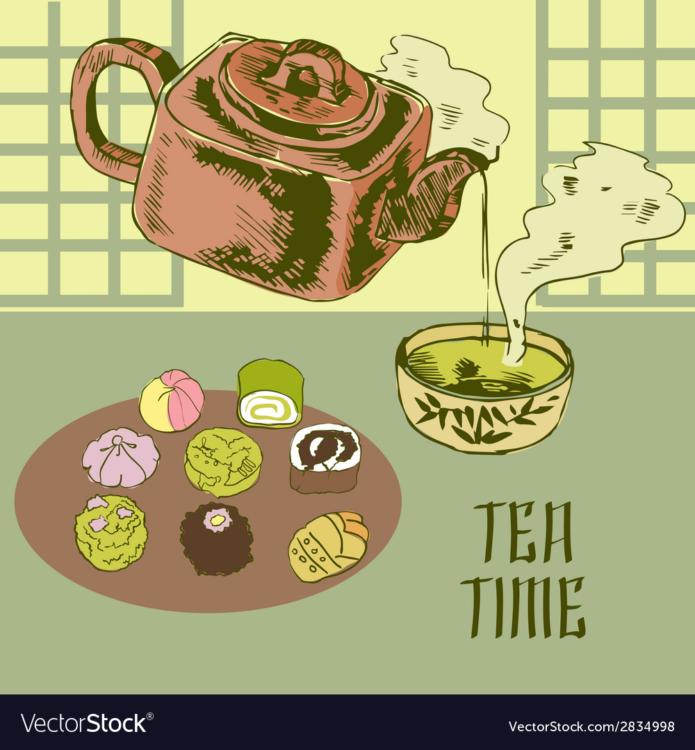 Japanese teapot and cup vector | Price: 1 Credit (USD $1)