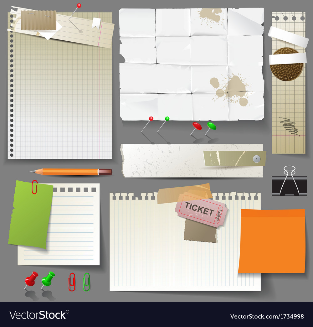 Paper design elements vector | Price: 1 Credit (USD $1)