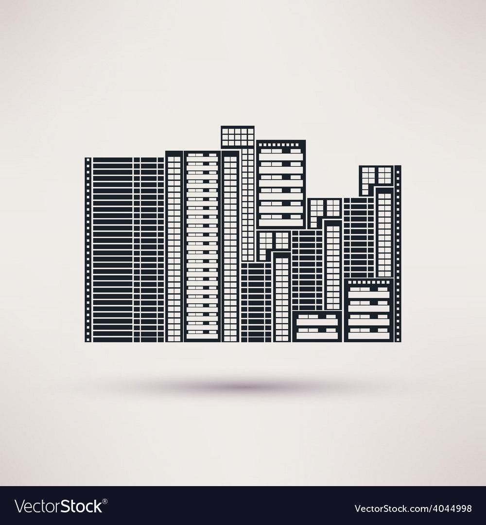 Residential complex icon in a flat style vector   Price: 1 Credit (USD $1)