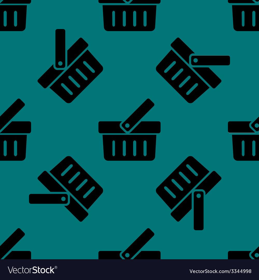 Shopping basket web icon flat design seamless vector   Price: 1 Credit (USD $1)