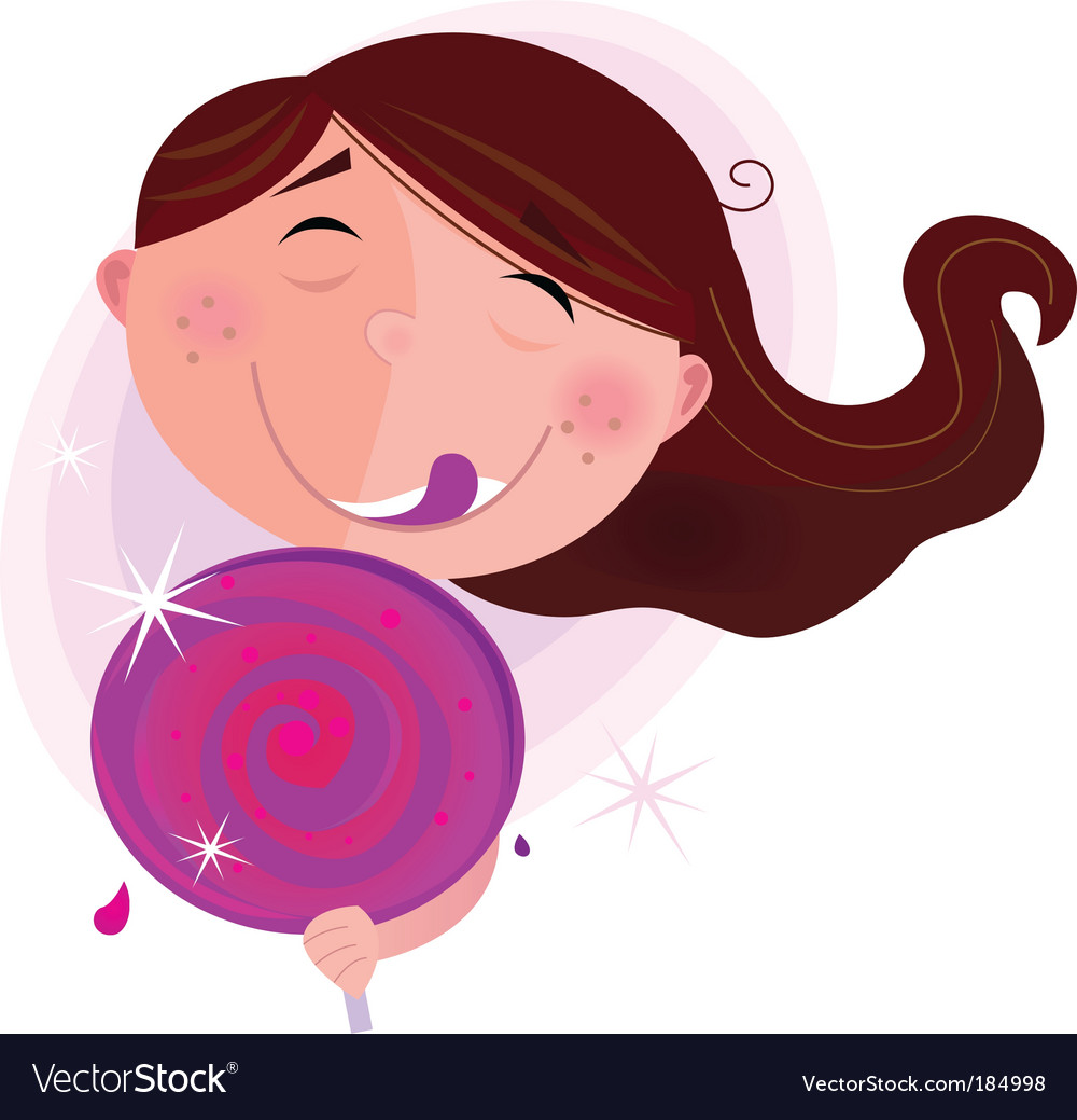 Small child with lollipop vector | Price: 1 Credit (USD $1)