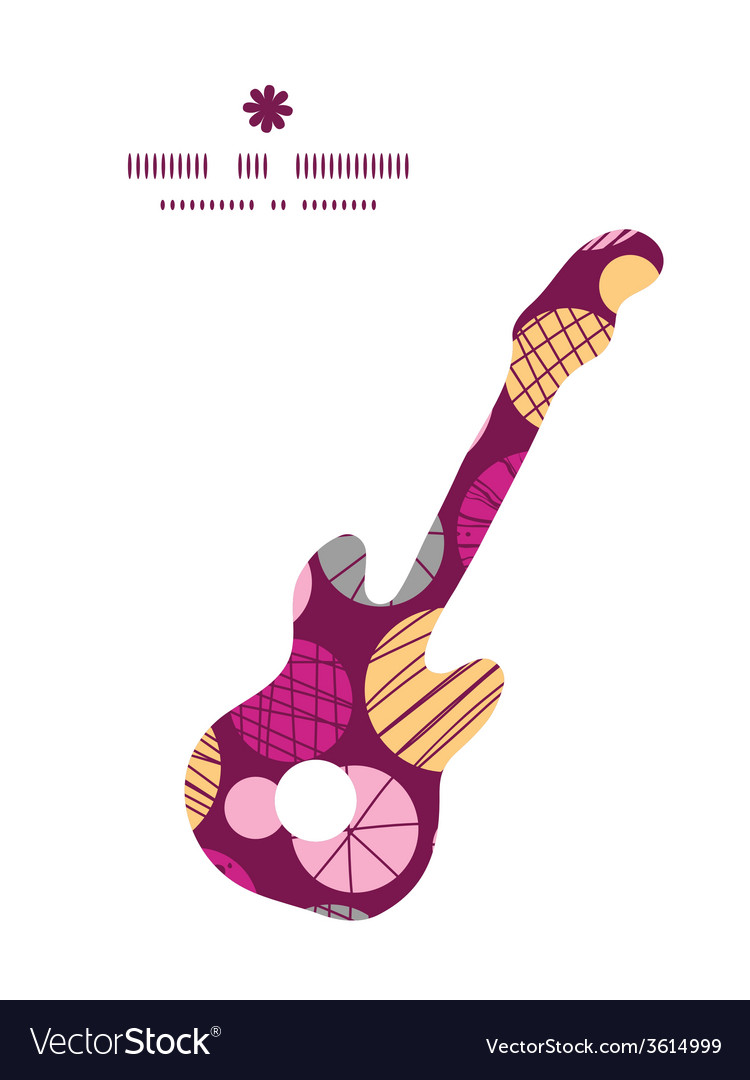 Abstract textured bubbles guitar music silhouette vector   Price: 1 Credit (USD $1)