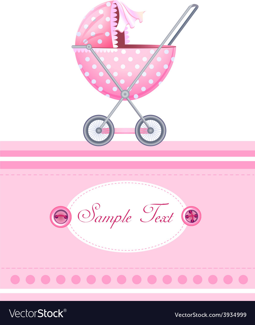 Baby arrival card vector | Price: 1 Credit (USD $1)
