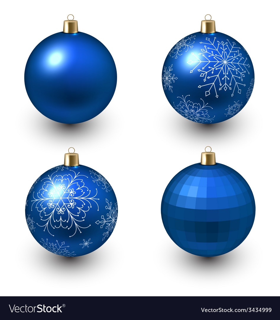Blue christmas balls vector | Price: 1 Credit (USD $1)