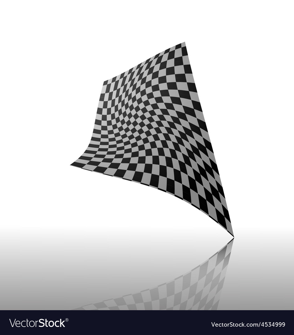 Checkered flag isolated on white baackground vector | Price: 1 Credit (USD $1)