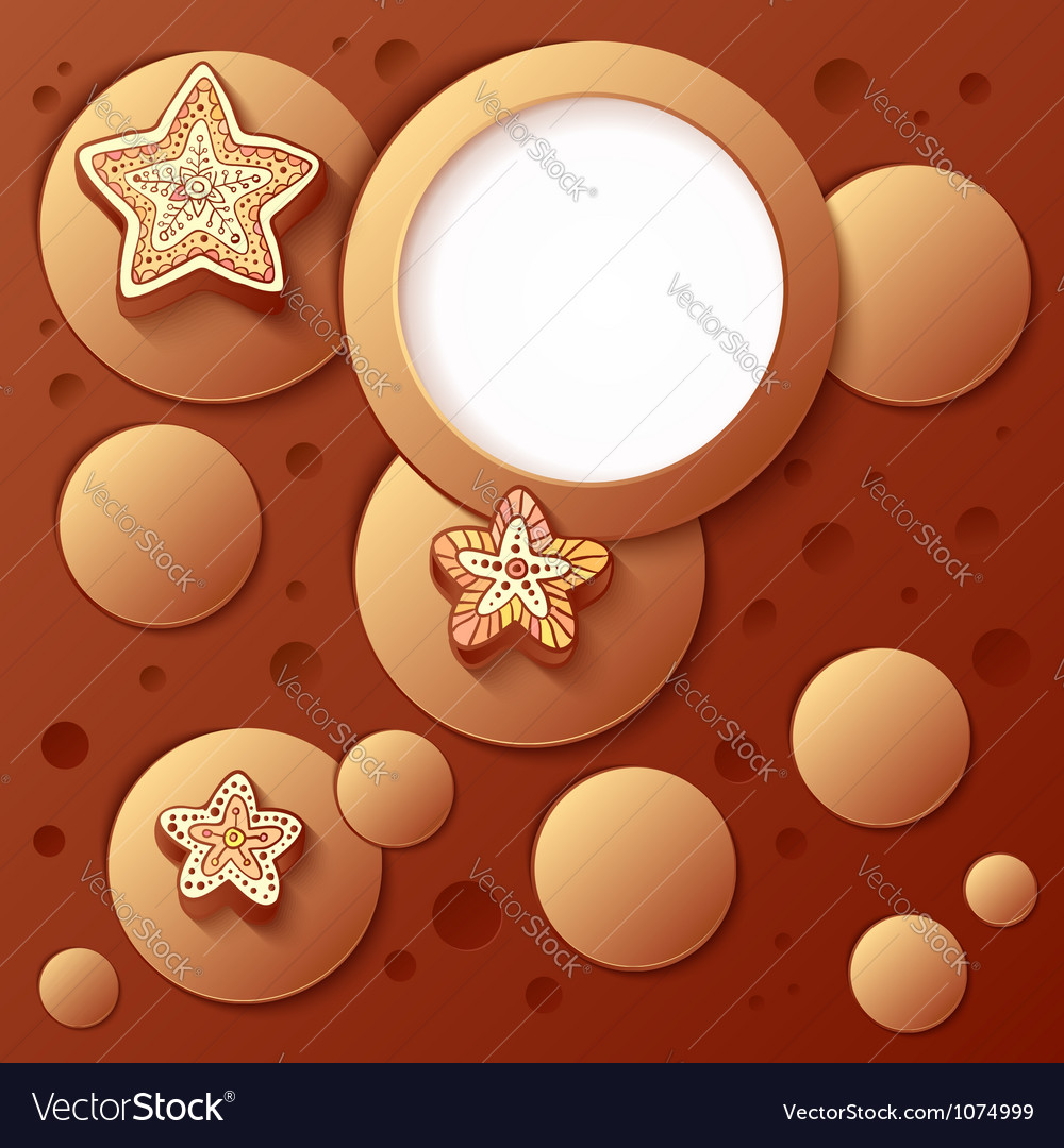 Chocolate bubbles abstract artistic background vector | Price: 1 Credit (USD $1)