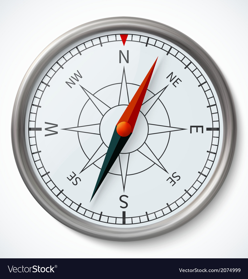 Compass isolated on a white background vector | Price: 1 Credit (USD $1)