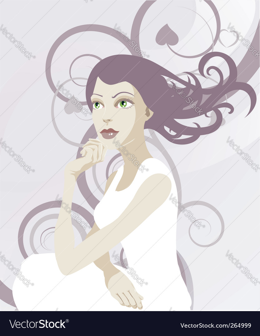 Elegant lady vector | Price: 3 Credit (USD $3)