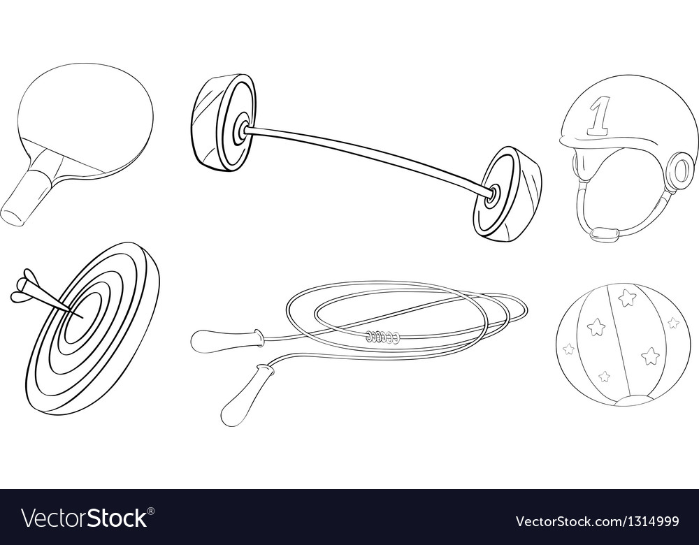 Exercise and game equipments vector | Price: 1 Credit (USD $1)