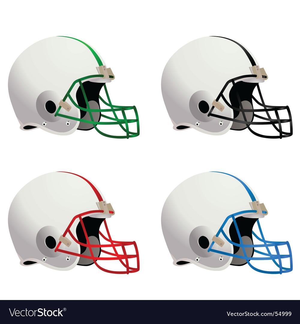 Football helmets vector | Price: 1 Credit (USD $1)