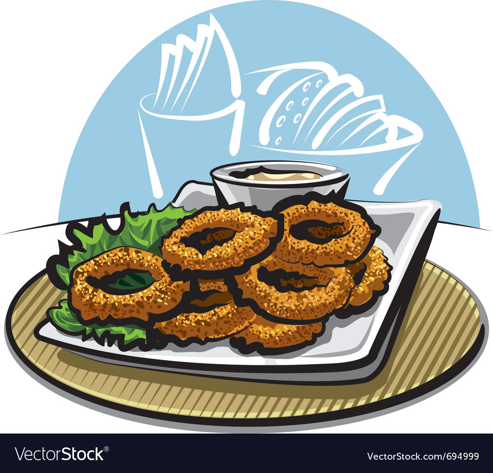 Fried squid rings vector | Price: 3 Credit (USD $3)