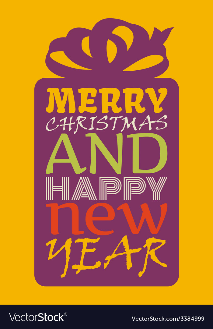 Happy new year and merry christmas vector | Price: 1 Credit (USD $1)
