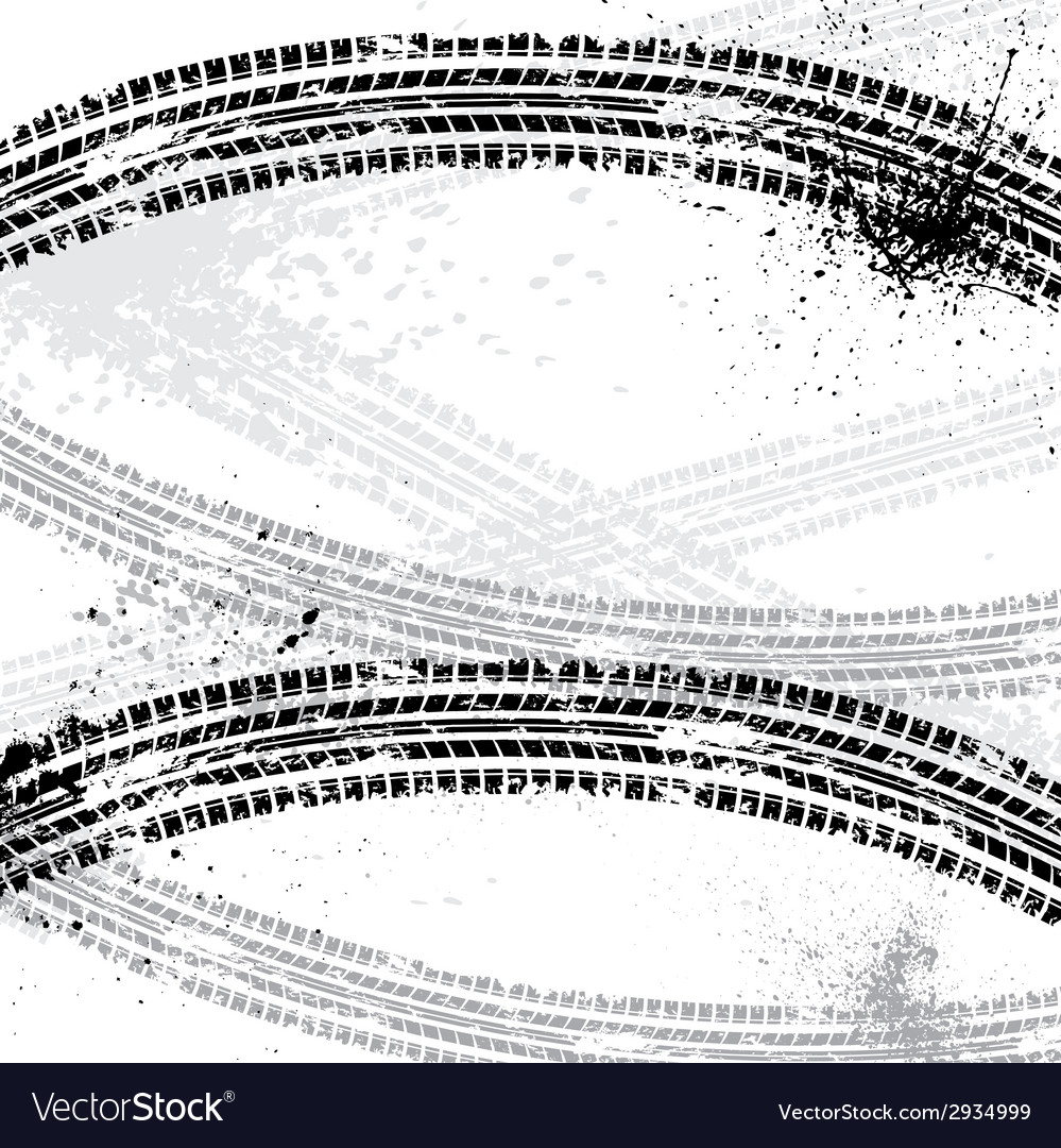 Ink blots tire track vector | Price: 1 Credit (USD $1)