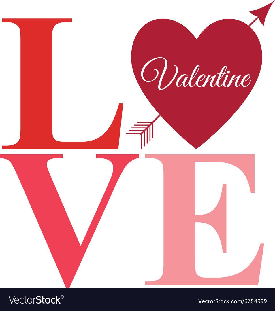 Love arrow word bright vector | Price: 1 Credit (USD $1)