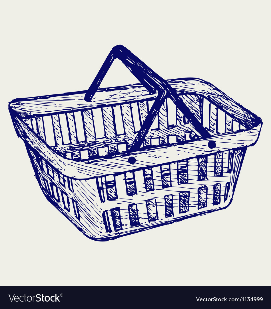 Plastic basket vector | Price: 1 Credit (USD $1)