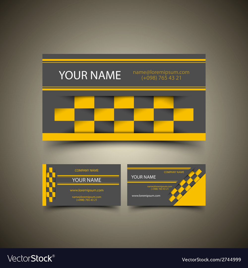 Taxi business card set vector | Price: 1 Credit (USD $1)
