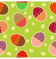 Easter seamless pattern with eggs background vector