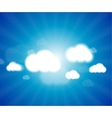 White clouds in the blue clear sky background vector