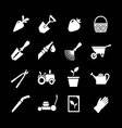 Set icons of garden vector