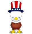 Cartoon american patriotic eagle vector