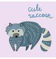 Cute cartoon raccoon vector