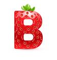 Tasty alphabet vector