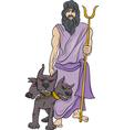 Greek god hades cartoon vector