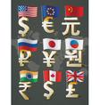 World currencies vector