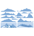 Mountain elements vector