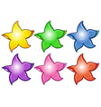 Three colorful stars vector