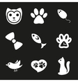 Cute cat icons set vector