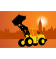 City and construction vector