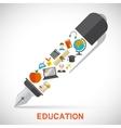 Education pen concept vector