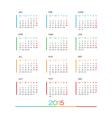 2015 full calendar template vector