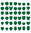 Green shields vector
