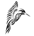Beautiful black hummingbird background vector