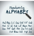 Hand drawing alphabet vector